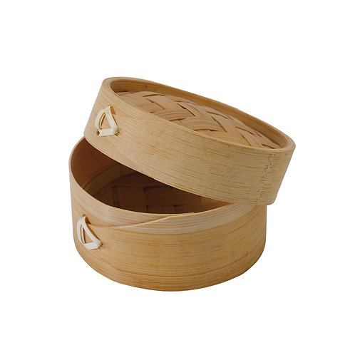 Dim Sum Mini Bamboo Steamer with Lid -