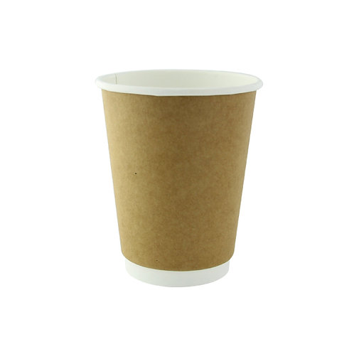 Natural Double Wall Kraft Compostable Cup 12oz