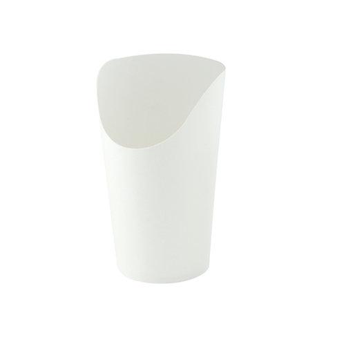 White Kraft Wrap Cup- 12 oz
