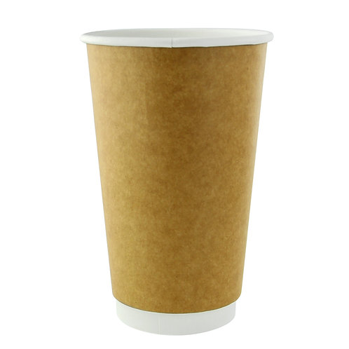 Natural Double Wall Compostable Cup - 16oz