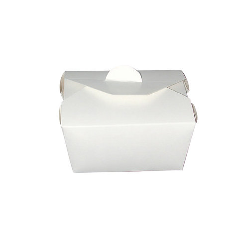 White Take Out Collection- White Meal Box