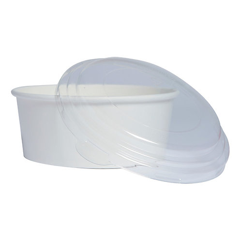Buckaty Collection - 24oz Round White To-Go Container
