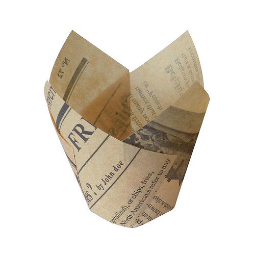 Baking cup - Tulip Newspaper print  5oz