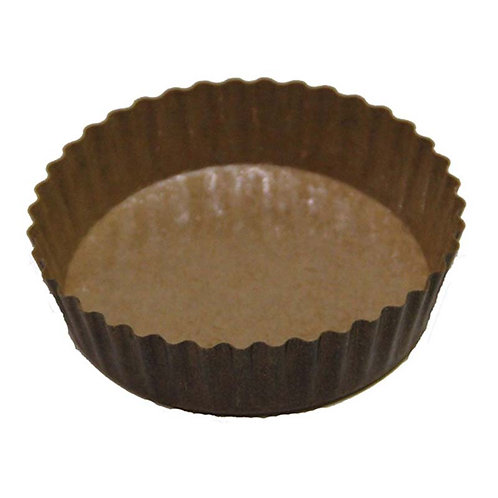 8oz Fluted Baking Cups - Clear XP/Solid Brown