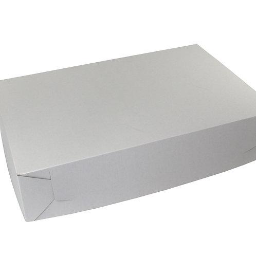 White Sheet Cake Bakery Box  19 1/2 x 14 x 4