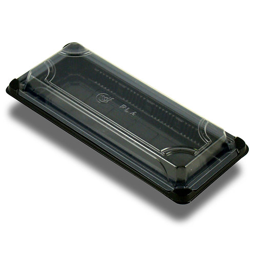 PLA Sushi Tray with Lid ( 9.25 x 4.125 x 1.75)