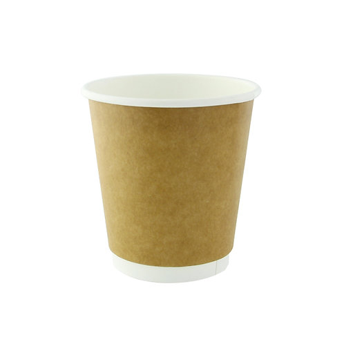 Natural Double Wall Kraft Compostable Cup 8oz