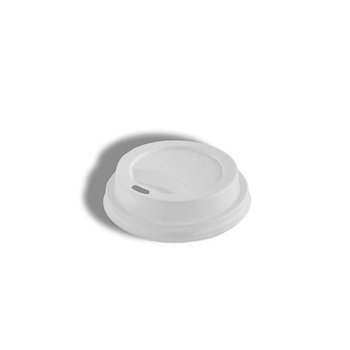 PS White Lid (fits 8oz single and double wall hot paper cups)