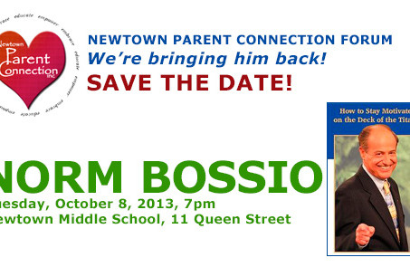 Save the Date!  Norm Bossio is coming back Oct 8!