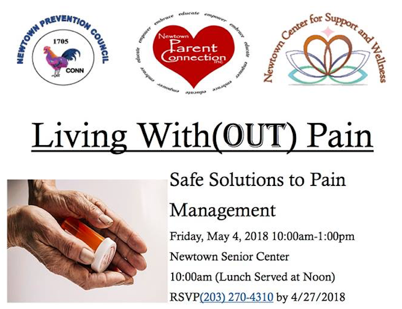 Living With(OUT) Pain forum at Newtown, CT Senior Center
