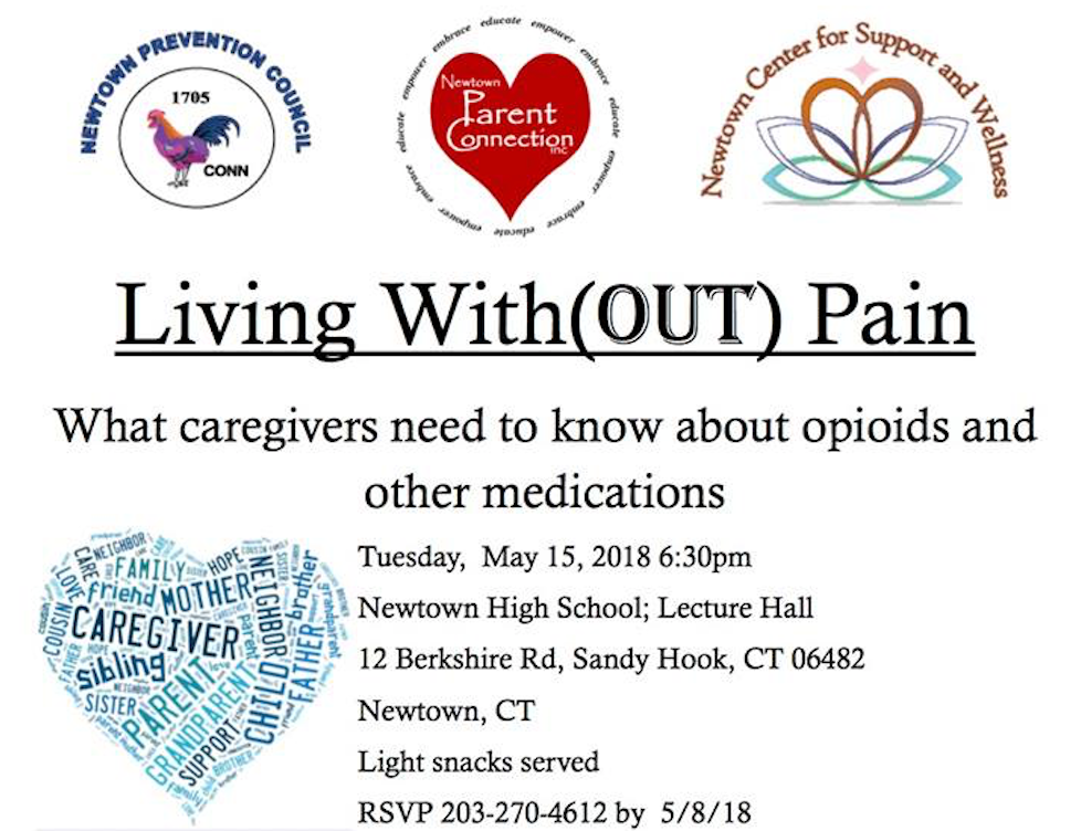 Living with(OUT) Pain Forum, Newtown High School, May 15, 2018