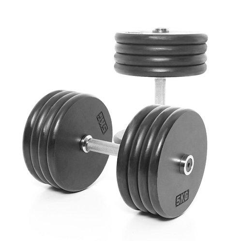 Steelflex Rubber Dumbbells 50 kg/pair