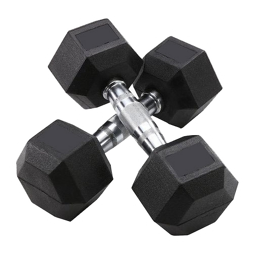 Sports Group Hex Rubber Dumbbells 9 kg/pair