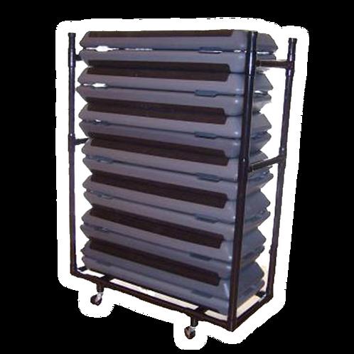 Atlantis PVC Step Platform Rack w/Castors (Black)