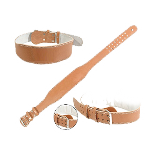 Sports Group Weight Lifting Brown Leather Belt