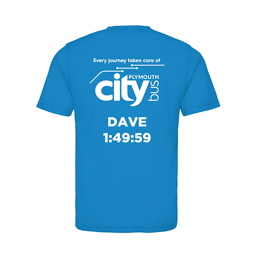 Personalised Plymouth Half Finishers T-shirt 2021