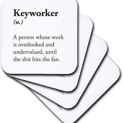 Keyworker Coaster - 4 Pack