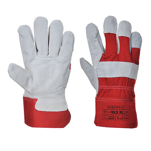 A220 - Premium Chrome Rigger Glove  Red - Pack of 3