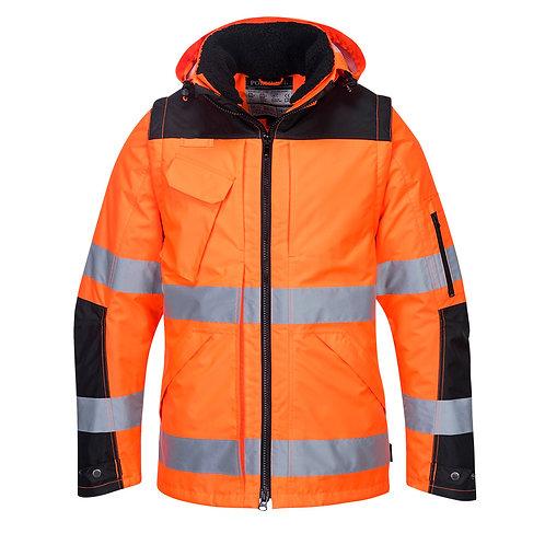 C469 - Pro Hi-Vis 3-in-1 Jacket  Orange/Black