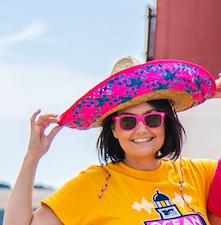 Mexican Sombrero Straw Hat x10