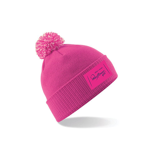 Mayflower 400 Adult Pink Pom Beanie - MF91