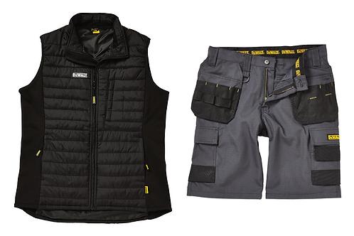 DeWALT Force Gilet & Cheverley Shorts