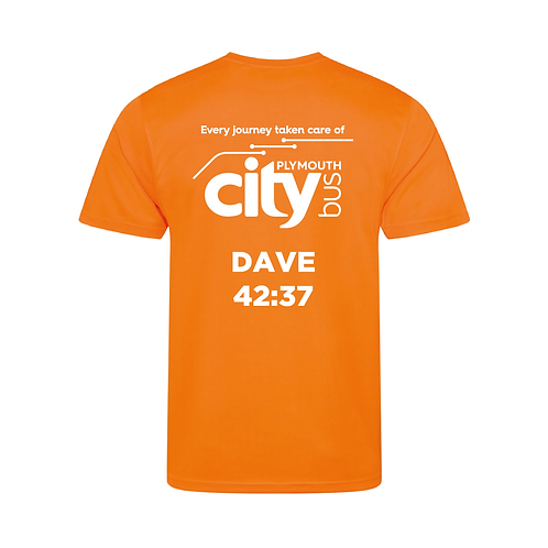 Personalised Plymouth 10k Finishers T-shirt 2021