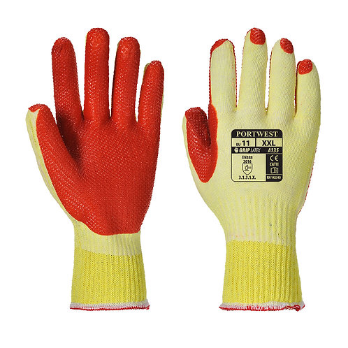 A135 - Tough Grip Glove  Yellow/Orange Pack of 5