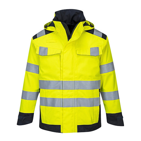 MV70 - Modaflame Rain Multi Norm Arc Jacket  Yellow/Navy