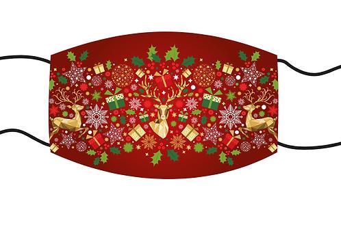 Red Reindeer - Face Mask