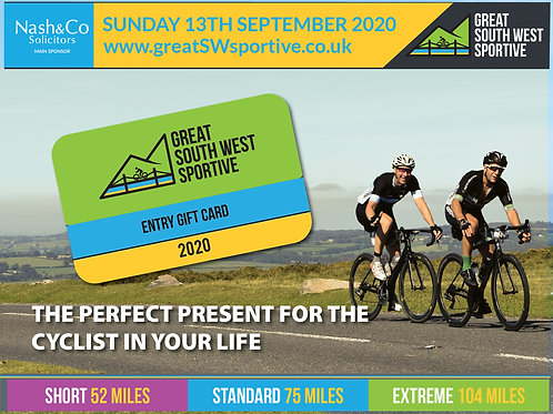 Great South West Sportive Entry Gift Card