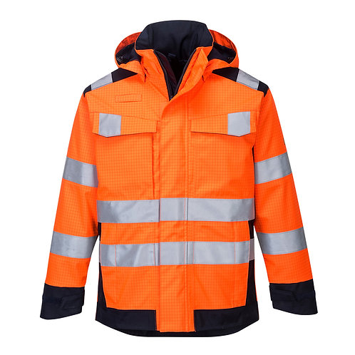 MV70 - Modaflame Rain Multi Norm Arc Jacket  Orange/Navy