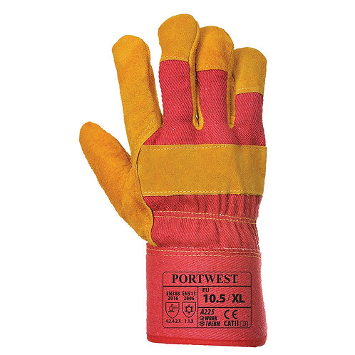 A225 - Fleece Lined Rigger Glove  Red - Pack of 5