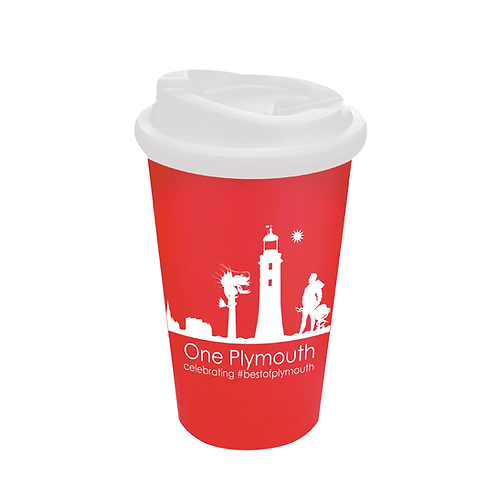 Red One Plymouth Cup with Non-Spill Lid