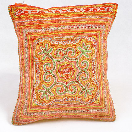 Hmong embroidered cushion SC3