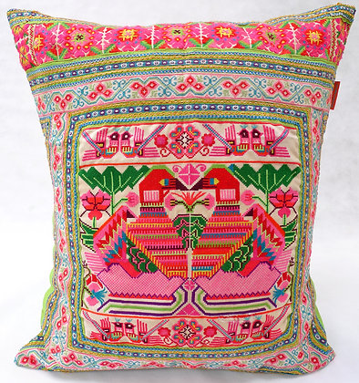 Hmong embroidered cushion LC27