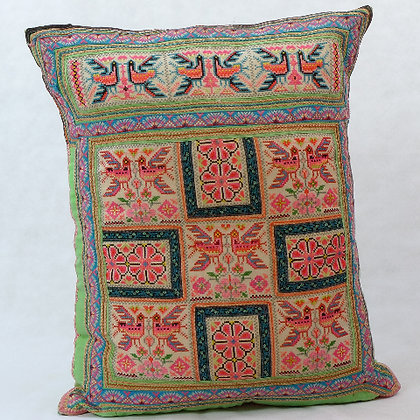 Hmong embroidered cushion LC5