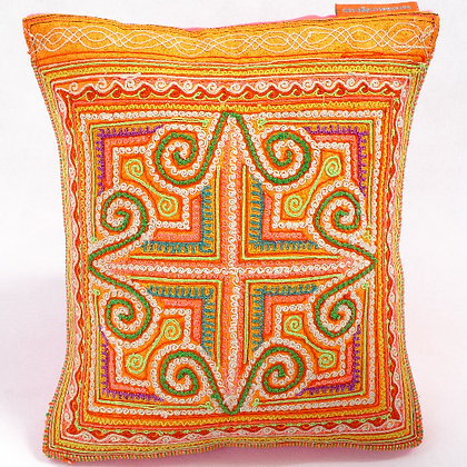 Hmong embroidered cushion SC9