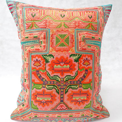 Hmong embroidered cushion LC25