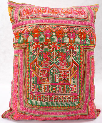Hmong embroidered cushion LC26