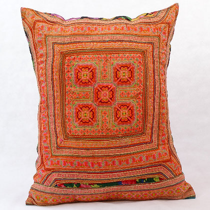 Hmong embroidered cushion LC2