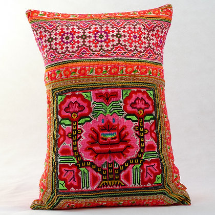 Hmong embroidered cushion LC16