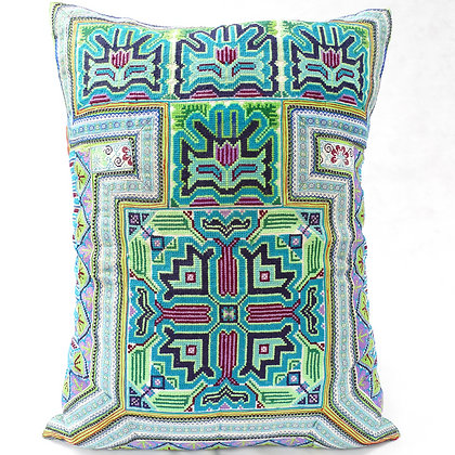 Hmong embroidered cushion LC23