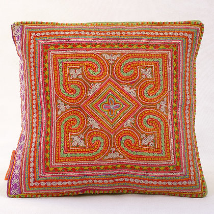 Hmong embroidered cushion SC16