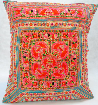 Hmong embroidered cushion LC18