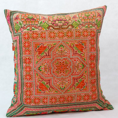 Hmong embroidered cushion LC6