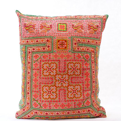 Hmong embroidered cushion LC12
