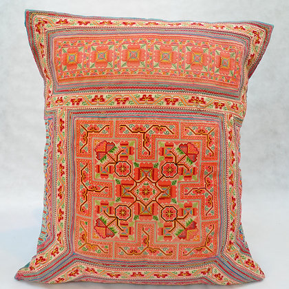 Hmong embroidered cushion LC17