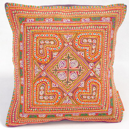 Hmong embroidered cushion SC12
