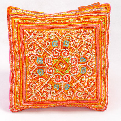 Hmong embroidered cushion SC5